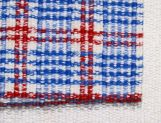 Lawrence Blue Red Check detail
